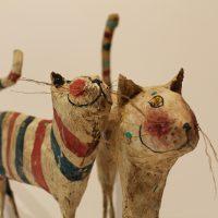 Marco Ferri, sculture di cartapesta dipinte
